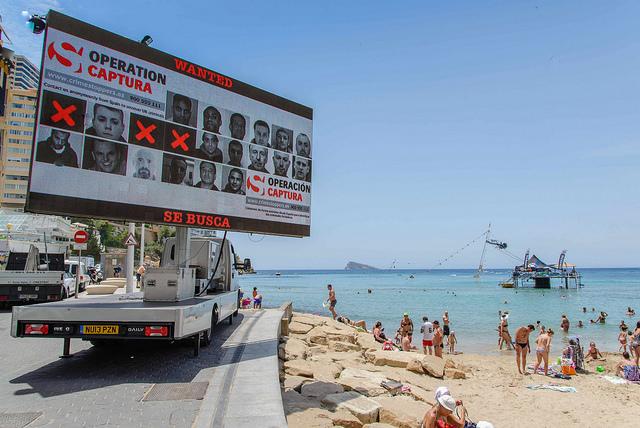 Camión-anuncio en Andalucia Foto NCA