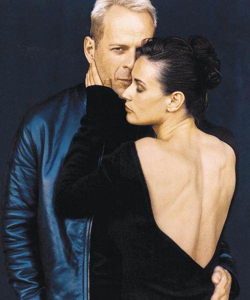 Bruce-Willis-y-Demi-Moore-en-1996-para-Donna-Karan