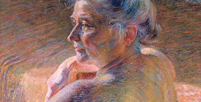 Nudo di Spalle. Controluce, Umberto Boccioni. 1909, Mart, Museo di Arte moderna e contemporánea di Trento e Rovereto. Collezione L.F.