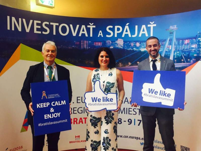 Rosa Balas, Manuel Pleguezuelo y Angel Sánchez Foto_@Junta_Ex