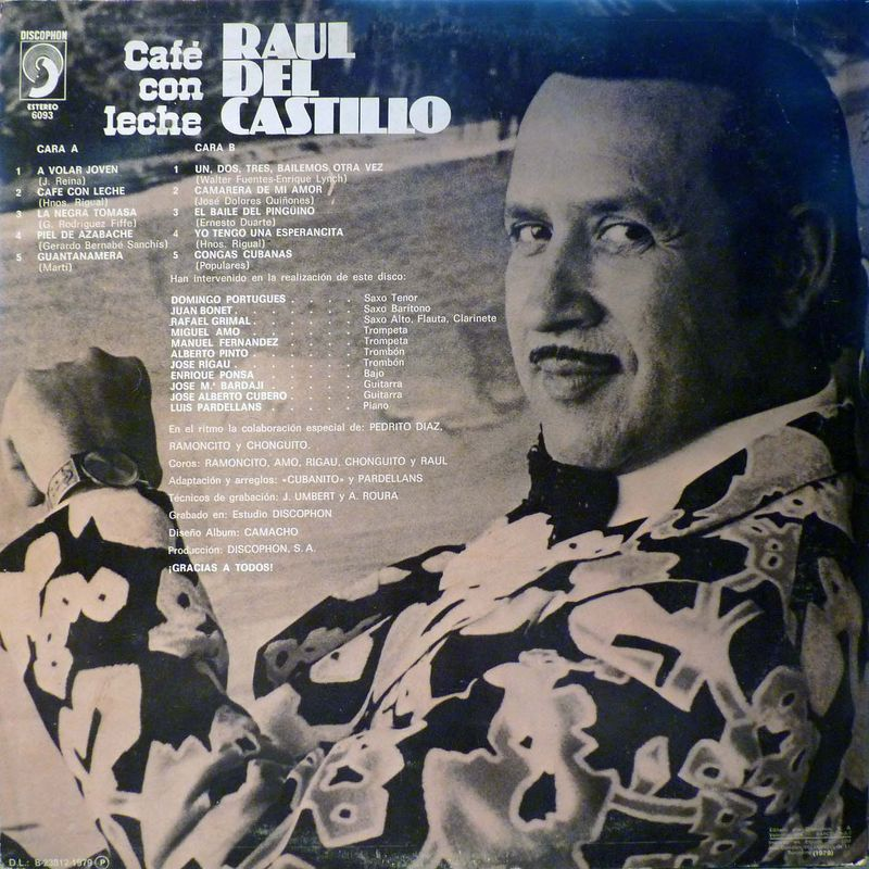 Raúl del Castillo Café con leche 1979