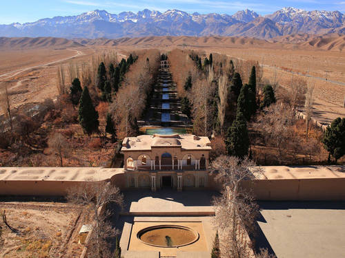 Qanat  Foto Unesco © S.H. RashediThe Persian Qanat- Aerial View, Jupar, Bagh-e Shahzadeh (Mahan)