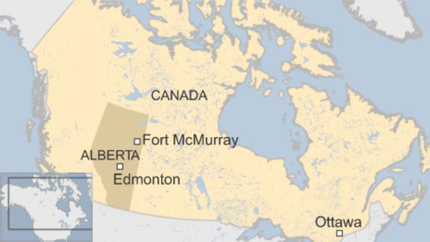 Mapa FortMcmurray