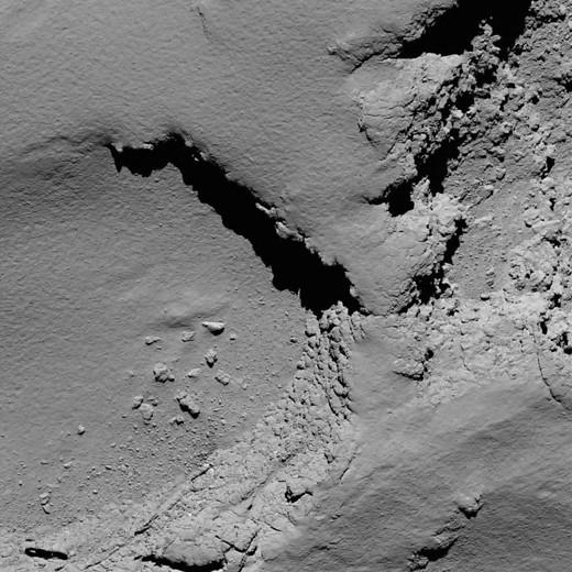 Rosetta acercándose a 67_P_ESA