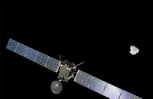 Cometa_y_Rosetta_Foto ficción ESA