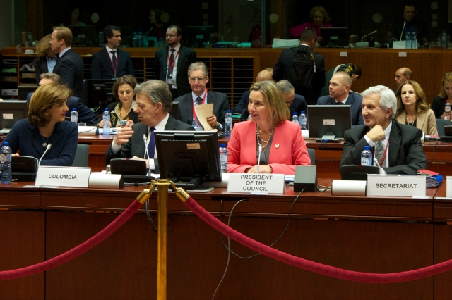 Mogherini y Juan Manuel Santos_Foto European Union