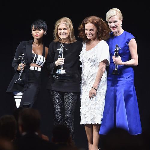 Janelle-Monae -Gloria-Steinem -Diane-von-Furstenberg-y-Cecile-Richards