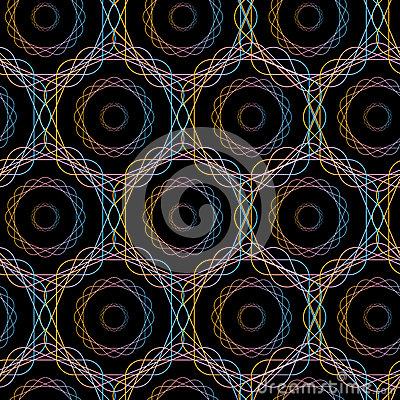 Modle-sans-couture-de-cercles-gomtriques-abstraits-d-hexagone-71351154