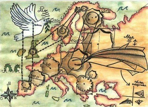 Dibujo de la española de 12 años Ana Fanlo_ Foto CE