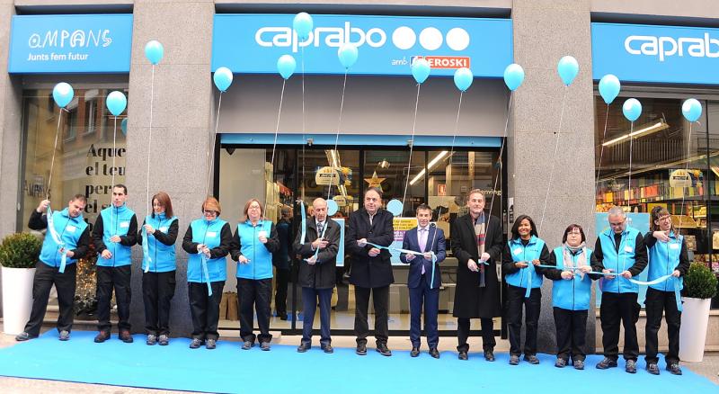 Inauguració supermercat AMPANS Caprabo  2