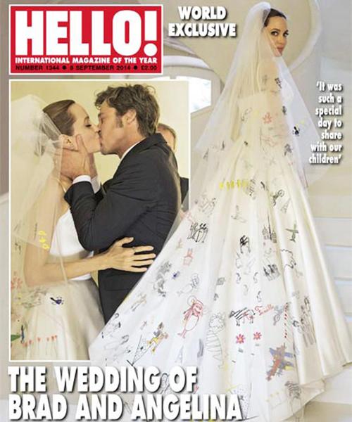 así es el vestido de novia de angelina jolie realizado por donatella