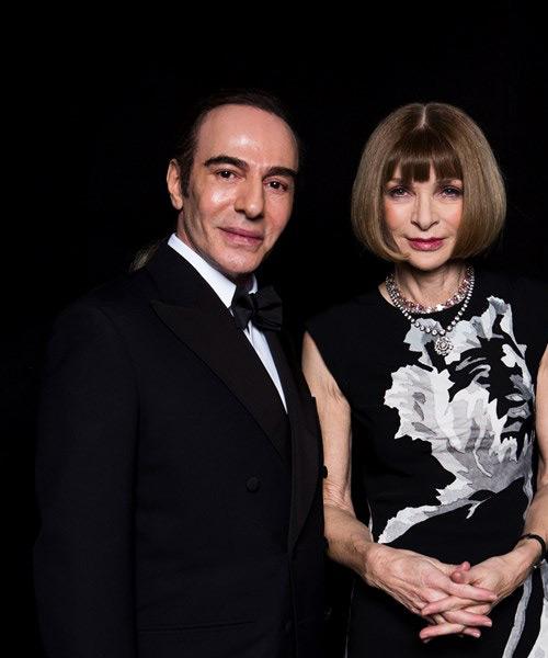 Galliano con anna Wintour
