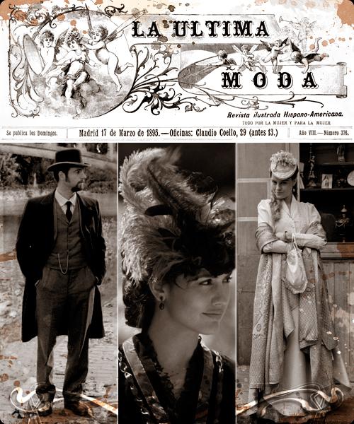 La moda de 1895 de la serie Víctor Ros