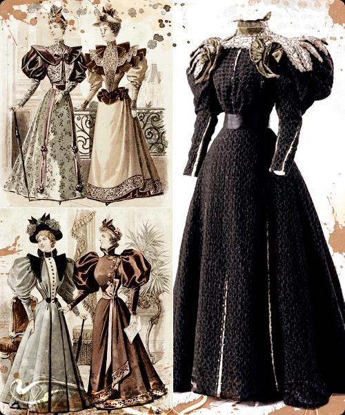 Ilustraciones de 1895 y diseño de la misma época.