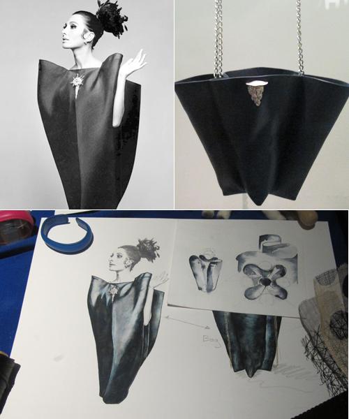 Vestido-de-Balenciaga-y-bolso-y-bocetos-de-Assaad-Awad