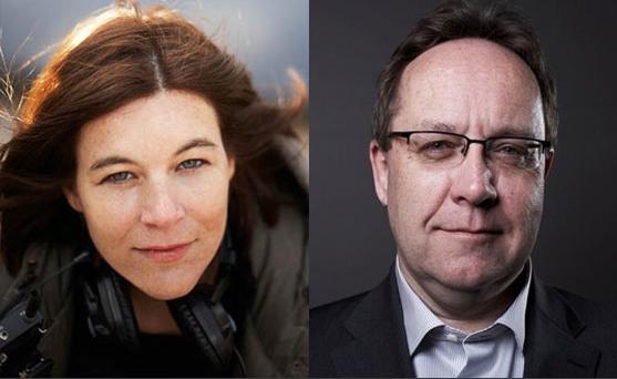 Kat Cizek y Gerry Flahive