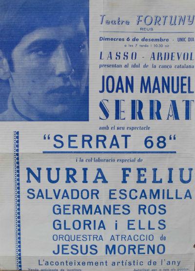 JOAN MANUEL SERRAT amb Jesús Moreno 1968 blog