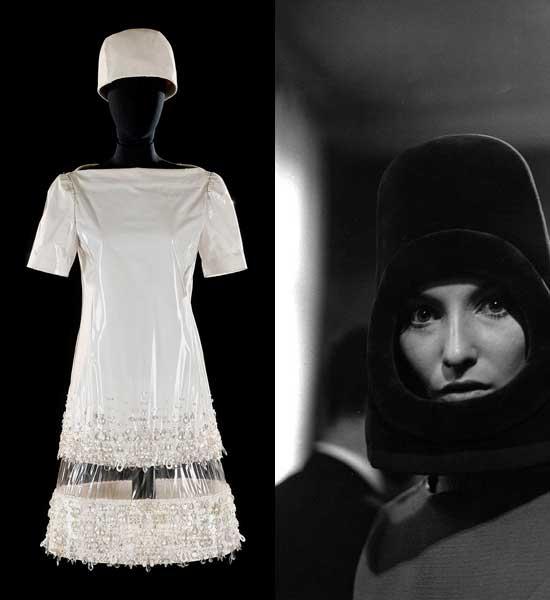 Diseño-de-Roberto-Capucci-y-sombrero-de-Pierre-Cardin,-de-1966