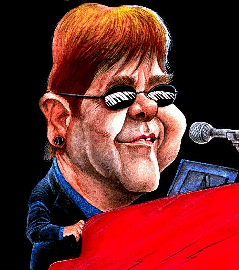 Elton John - CaricaturaOk