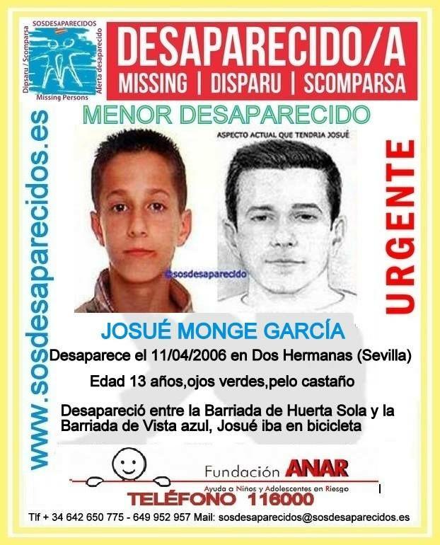 Ficha Josué SOS desaparecidos