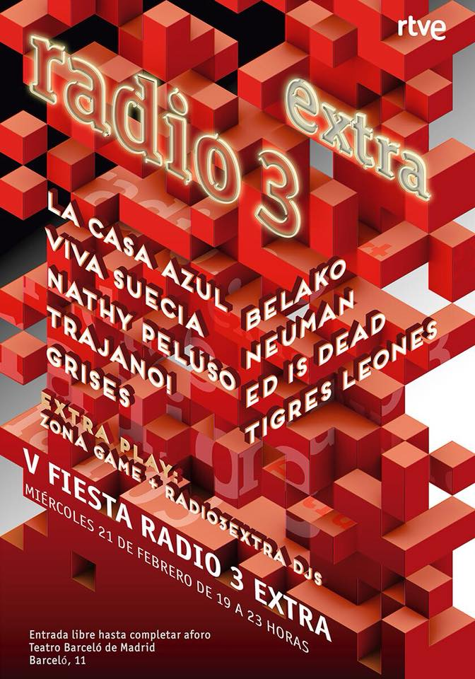 Cartel fiesta radio3extra