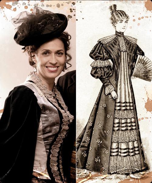 Lola Marceli y vestido de tarde de 1894