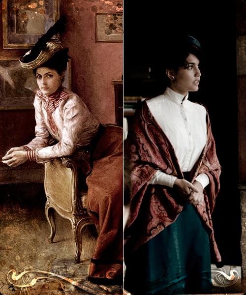 Cuadro de Julius LeBlanc Stewart (de 1895) y fotograma de la serie Victor Ros.