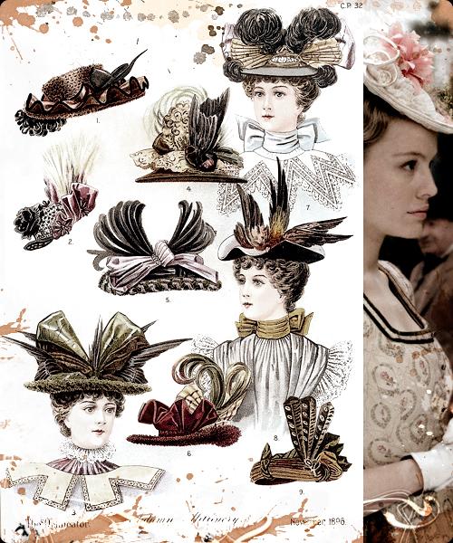 Las modas de los sombreros llegaban de París
