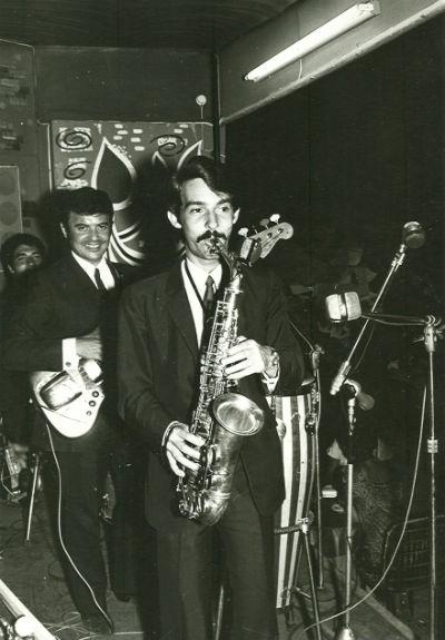 1968 Rafael Grimal Albert Pinto i Miquel Lizandra amb Sticks Quartet a l'Hotel California BLOG