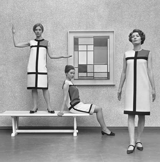 Colección-de-Yves-Saint-Laurent-en-1966-inspirada-en-Mondrian