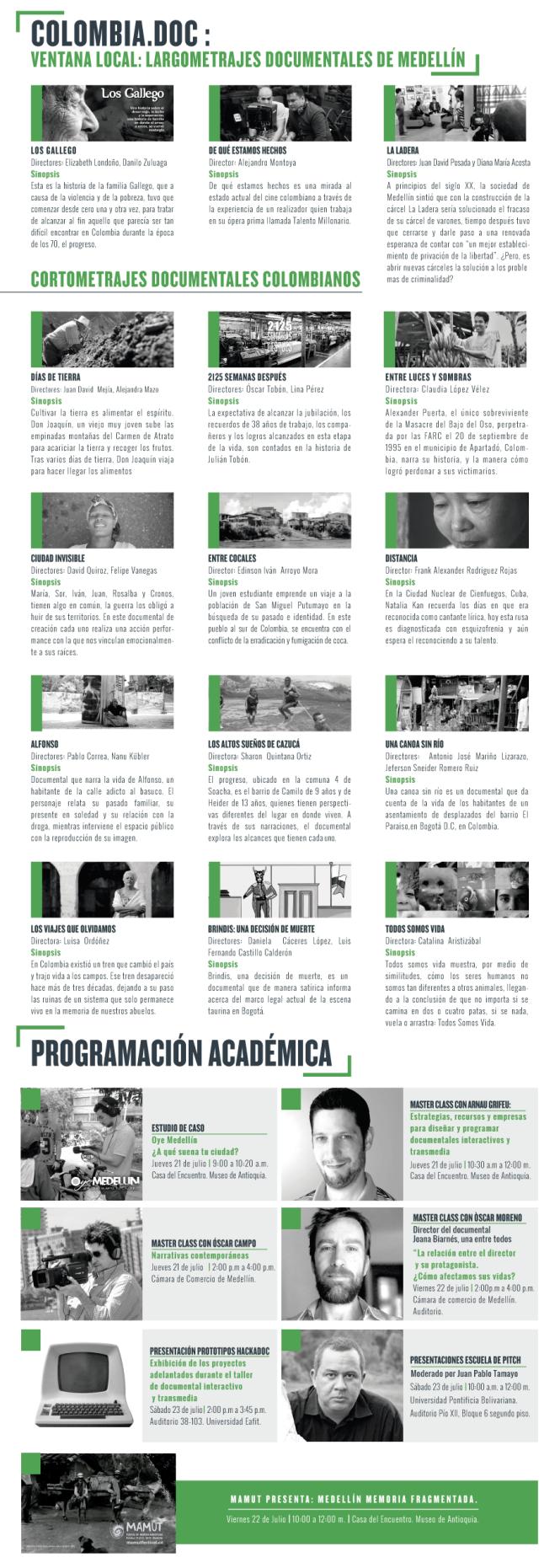 Programación DocsBarcelonaMedellin 2