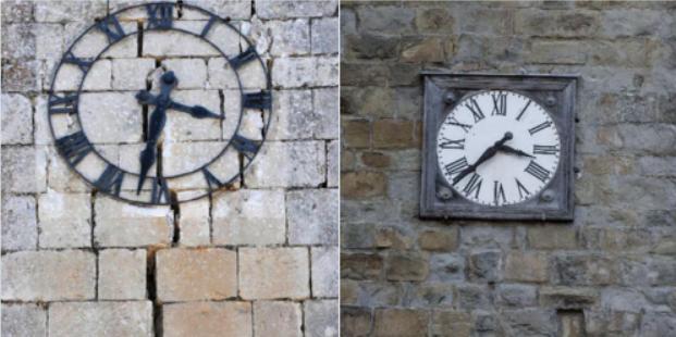 Relojes parados terremotos Italia Foto twitter @FlaMarimpietri