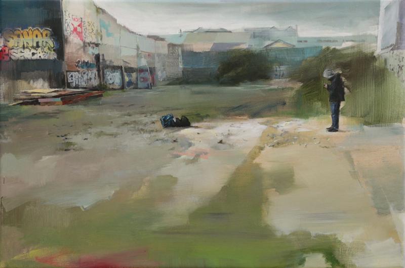 - descampado en montreuil ii -,95-145cm, acrylique sur toile, 2016, mesa
