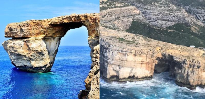 Ventana azul  antes y después