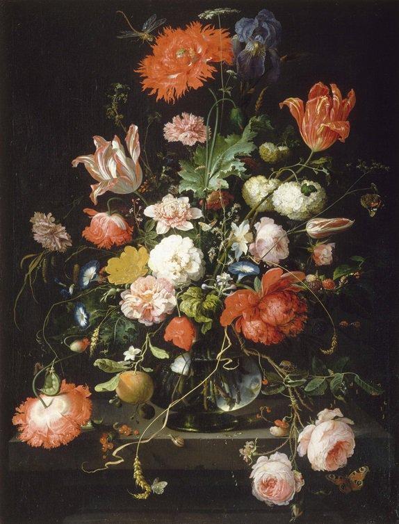 Flores en cristal_Abraham Mignon