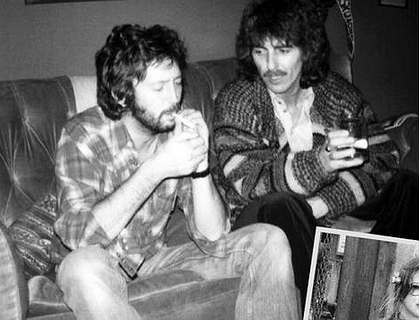 Eric Clapton +George Harrison fumando año 1970OK
