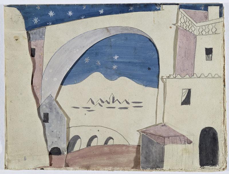2_Pablo_Picasso_maquette_decor_ballet_Tricorne_1919(c)Succession-Picasso-2017_(c)RMN-Grand-Palais-(Musée-national-Picasso-Paris)_Herve_Lewandowski