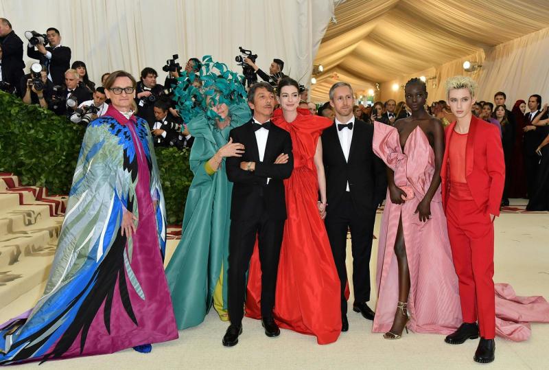 Troye Sivan  Adut Akech  Adam Shulman  Anne Hathaway  Pierpaolo Piccioli  Frances McDormand and Hamish Bowles