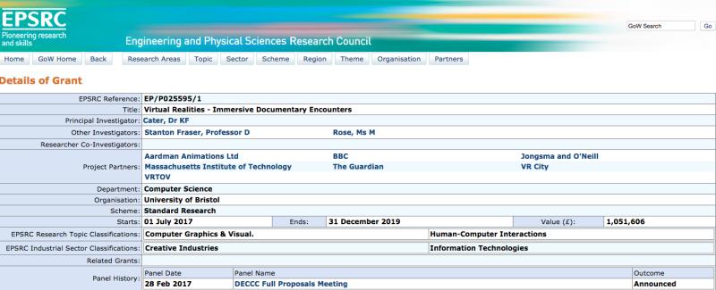 Datos grant EPSRC