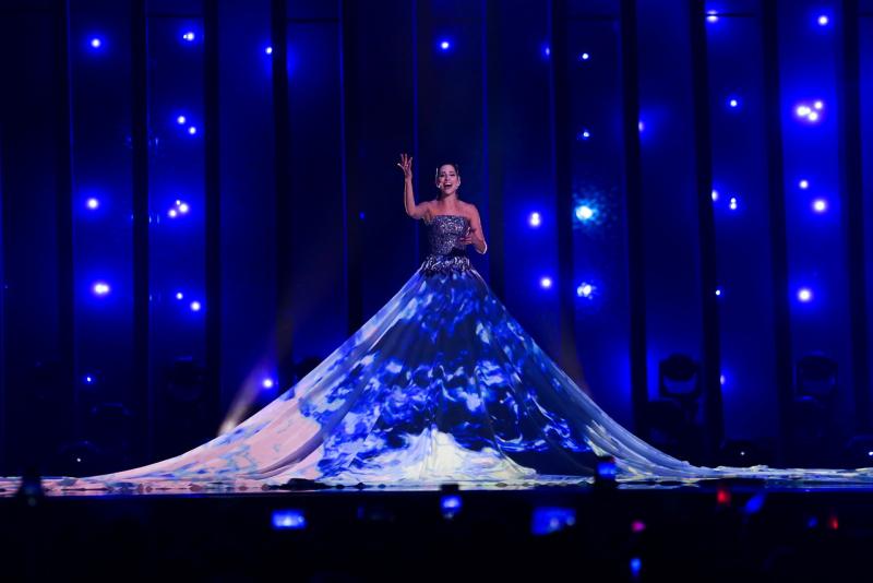 La cantante representante de Estonia  Elina Nechayeva