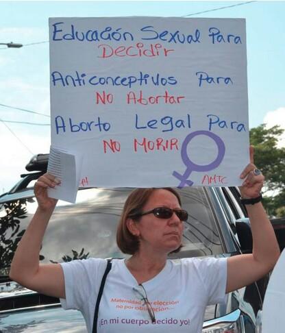 Blandón manifestants