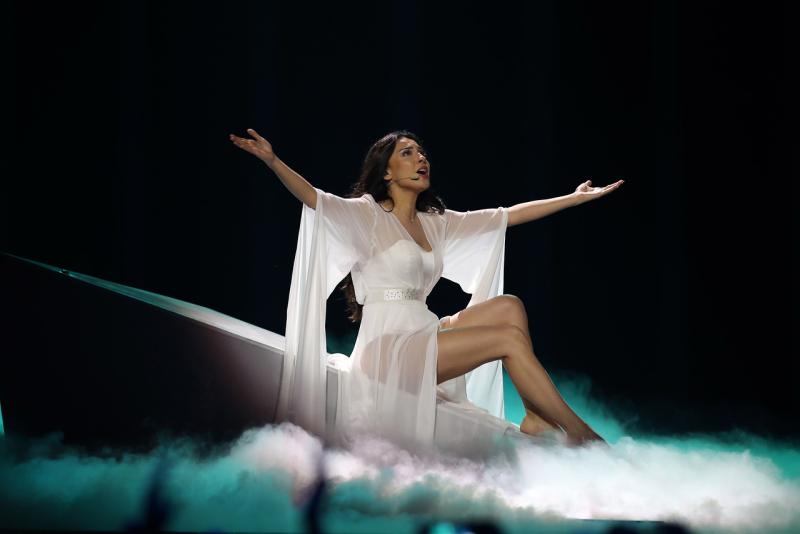 La cantante representante de Azerbaiyán Aisel
