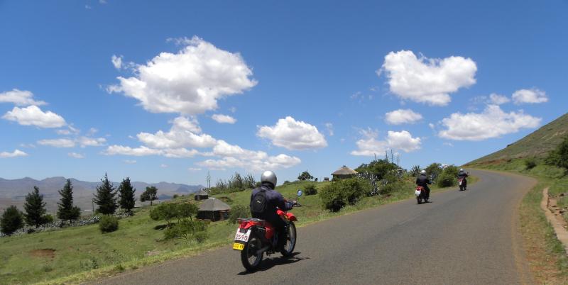 Riders riding