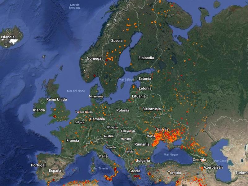 Incendios Europa