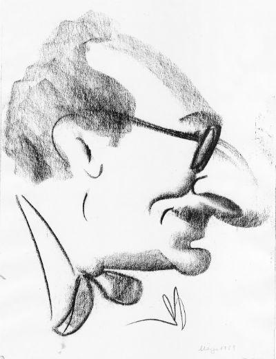 Martí Montserrat Serramont Caricatura març 1959 BLOG