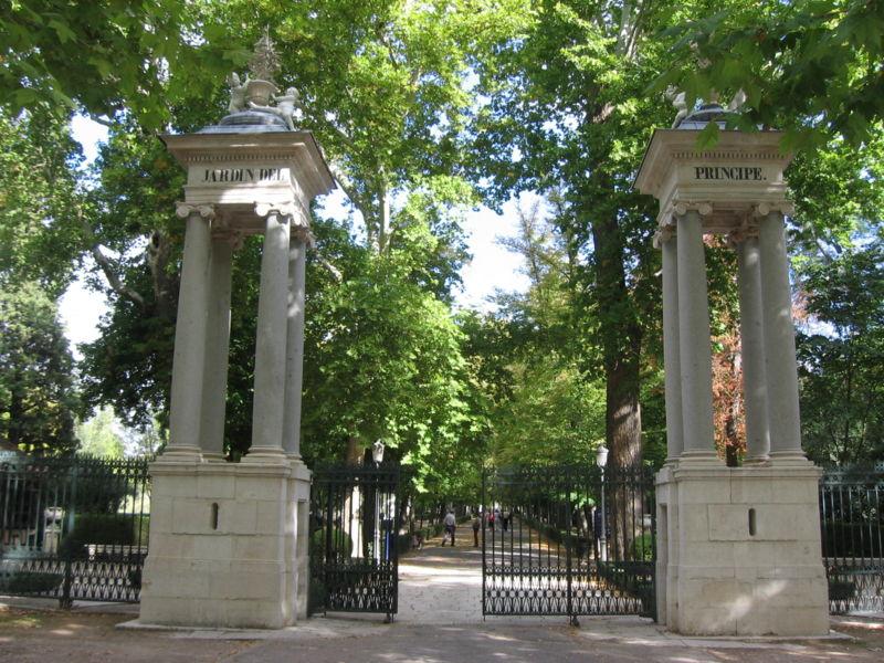 Entrada_jardin_principe_aranjuez_Foto Turismo en Aranjuez