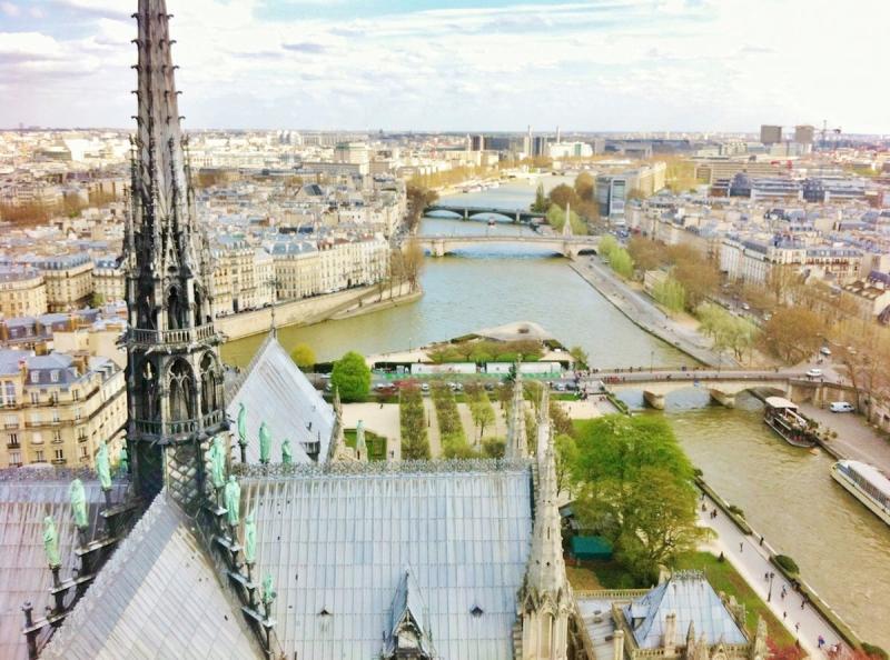 Notre Dame mira a París
