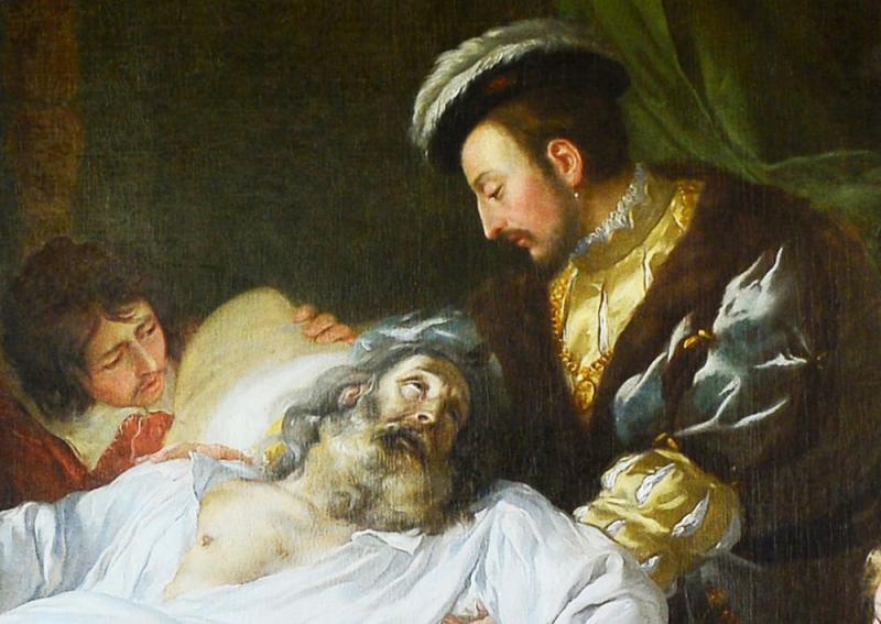 Cuadro Leonardo muere en brazos de Francisco I