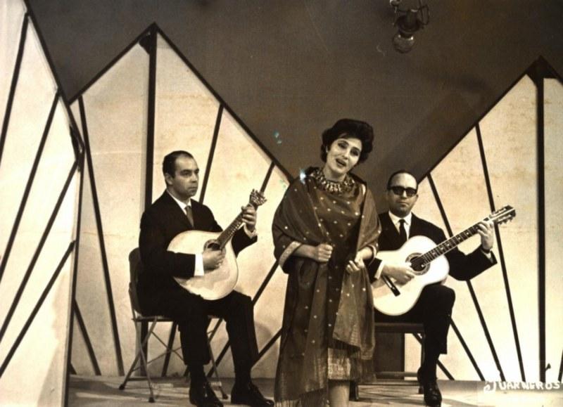 Domingos Camarinha  Amália Rodrigues e Castro Mota. México  1964. Foto Museo del Fado
