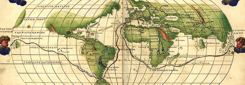 Mapa mundi vuelta al mundo